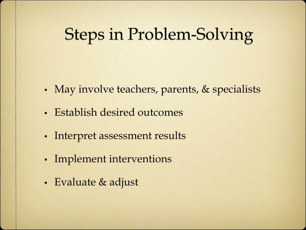 Steps in Problem-Solving