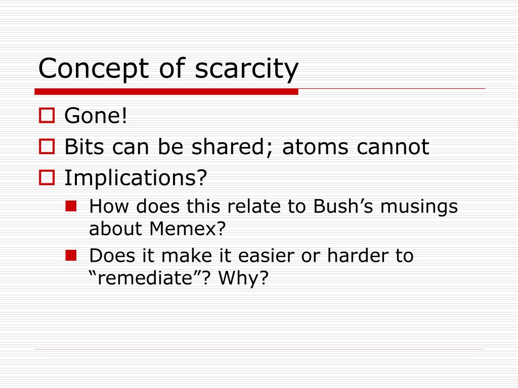Concept of scarcity