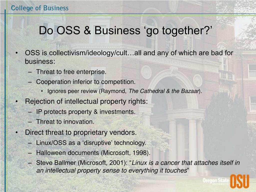 Do OSS & Business 'go together?'