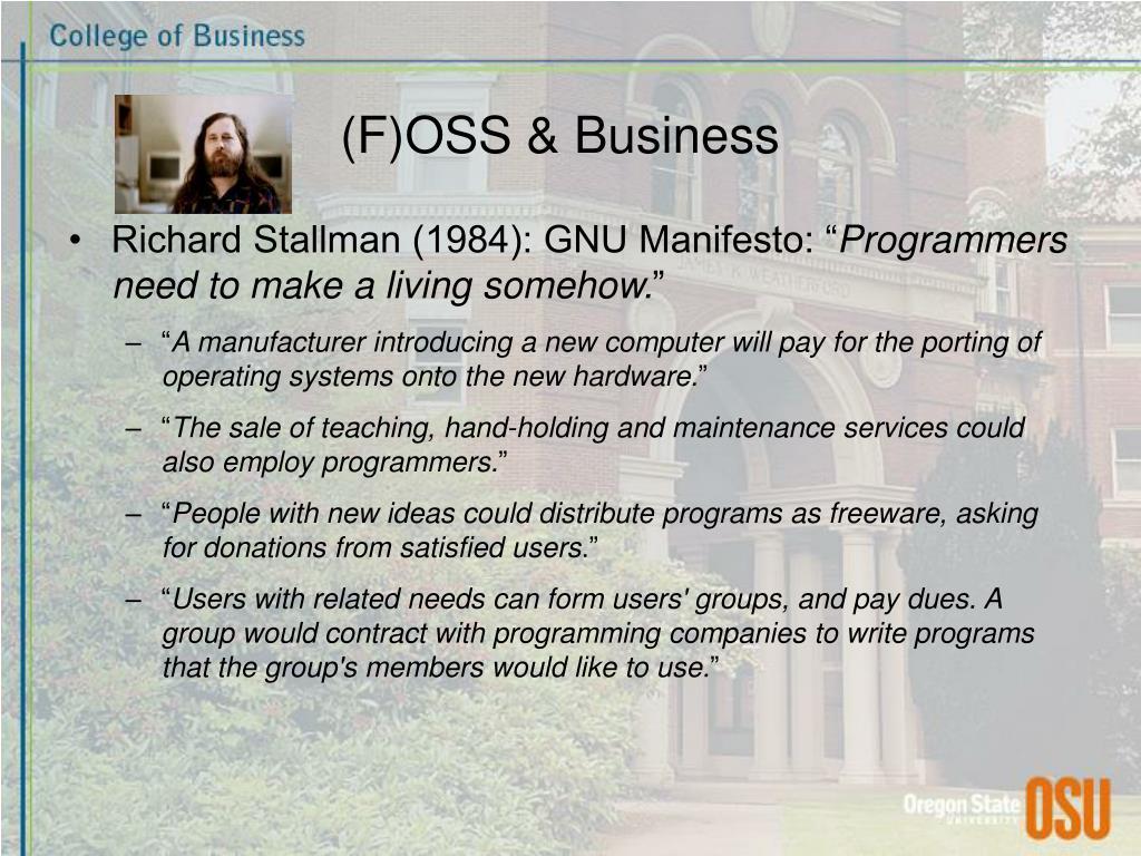 (F)OSS & Business