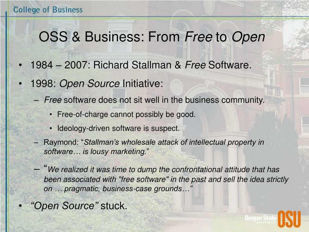 OSS & Business: From