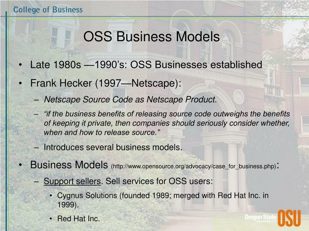 OSS Business Models