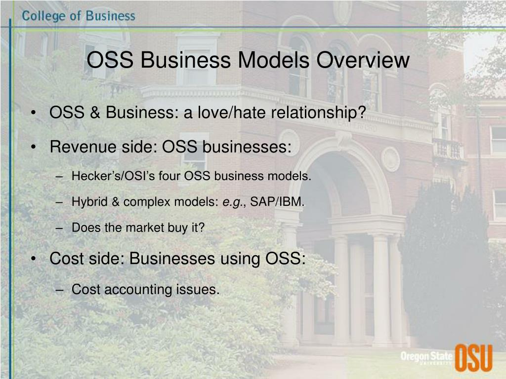 OSS Business Models Overview