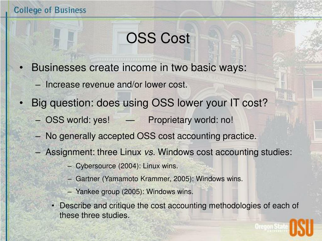 OSS Cost
