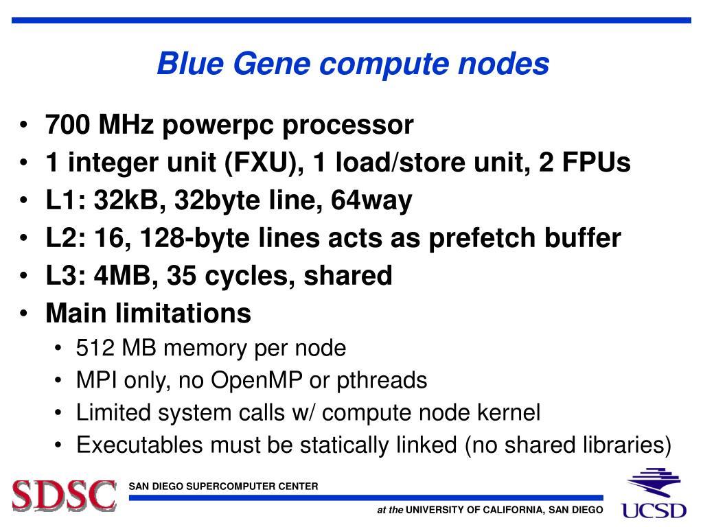 Blue Gene compute nodes