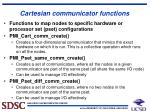 cartesian communicator functions