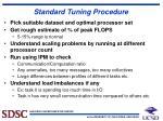 standard tuning procedure