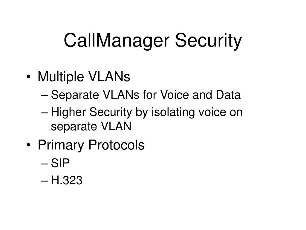 CallManager Security