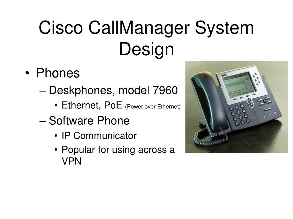 Cisco CallManager System Design