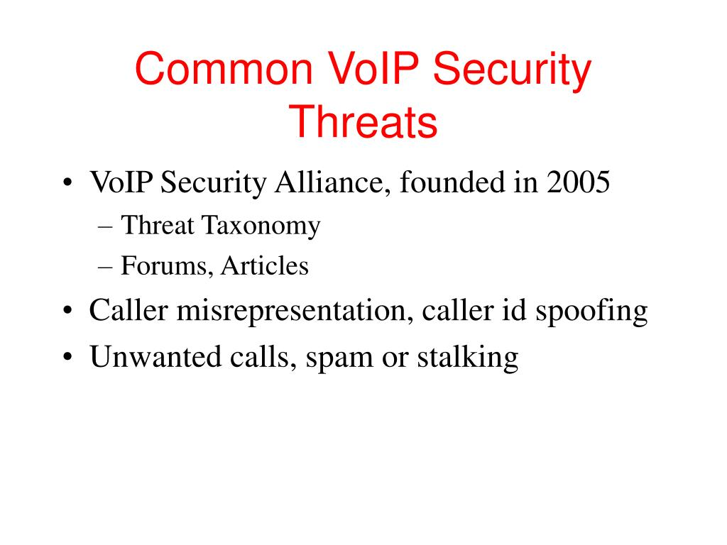 Common VoIP Security Threats