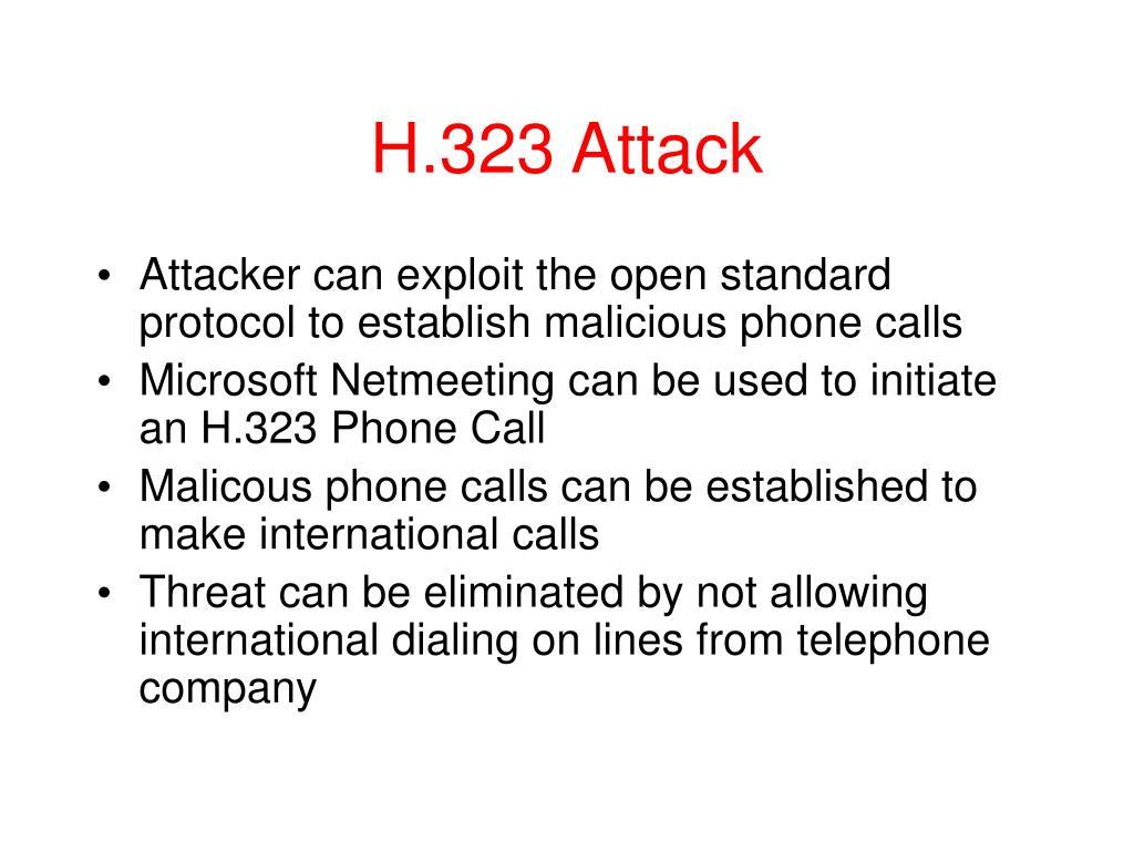 H.323 Attack
