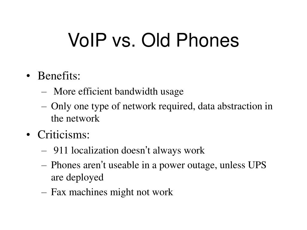 VoIP vs. Old Phones
