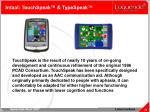 intaal touchspeak typespeak