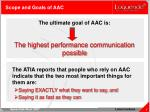 scope and goals of aac7