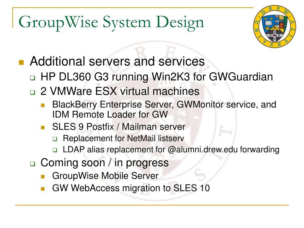 GroupWise System Design