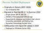 previous netmail deployment