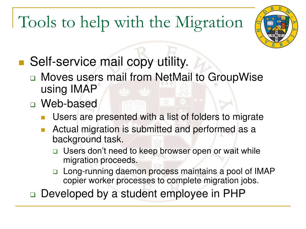 Tools to help with the Migration