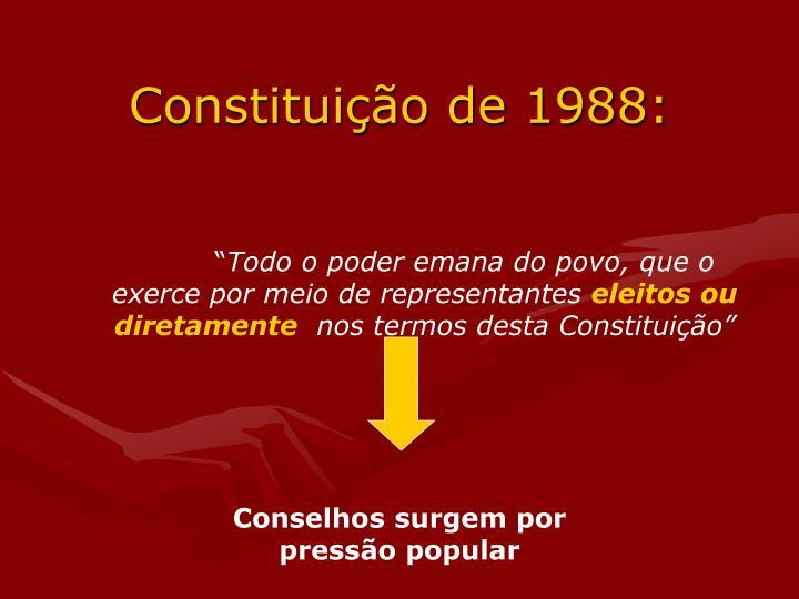 Constituição de 1988: