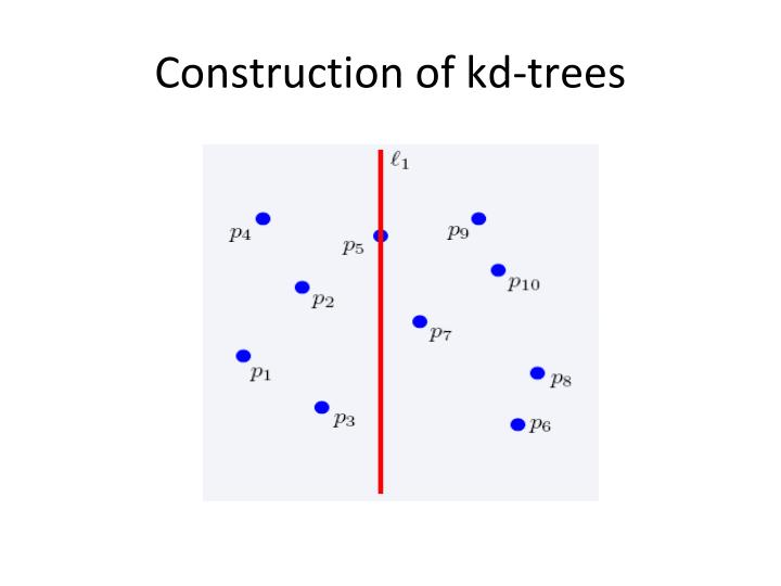 Construction of kd-trees