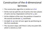 construction of the d dimensional kd trees