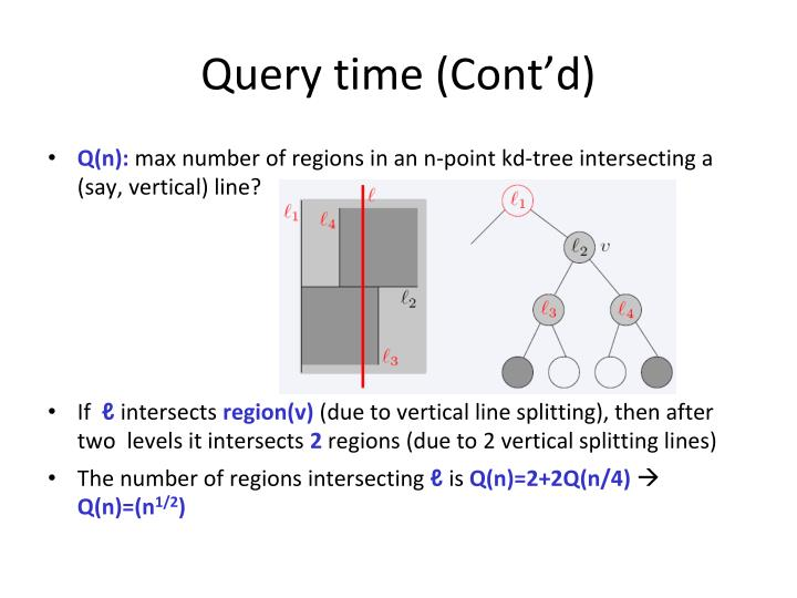 Query time (Cont'd)