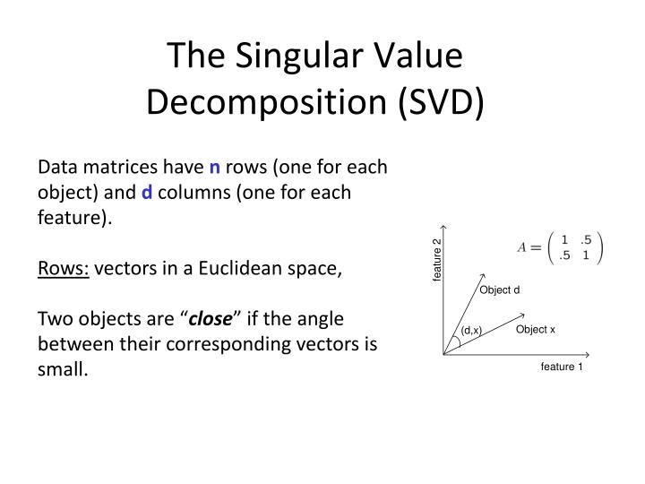 The Singular Value Decomposition (SVD)