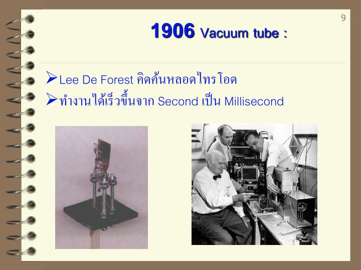 1906 Vacuum tube :