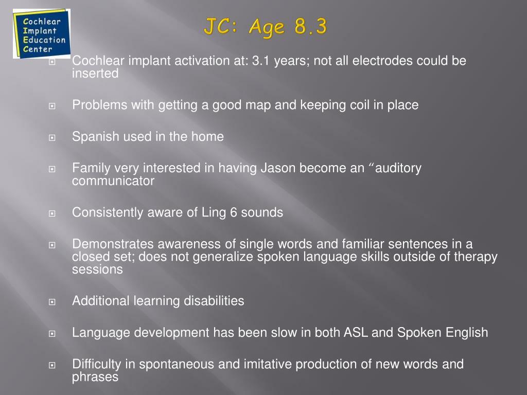 JC: Age 8.3