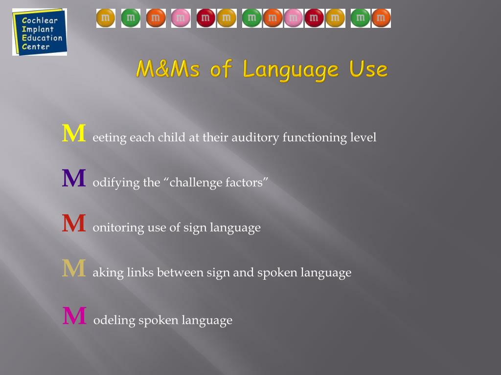M&Ms of Language Use