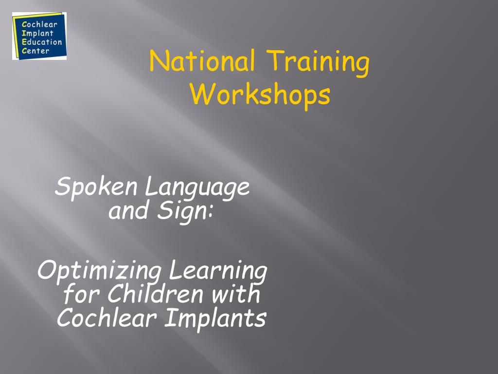 National Training Workshops