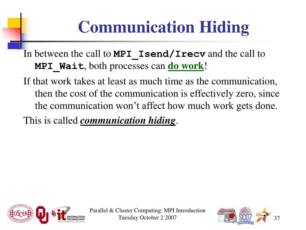 Communication Hiding