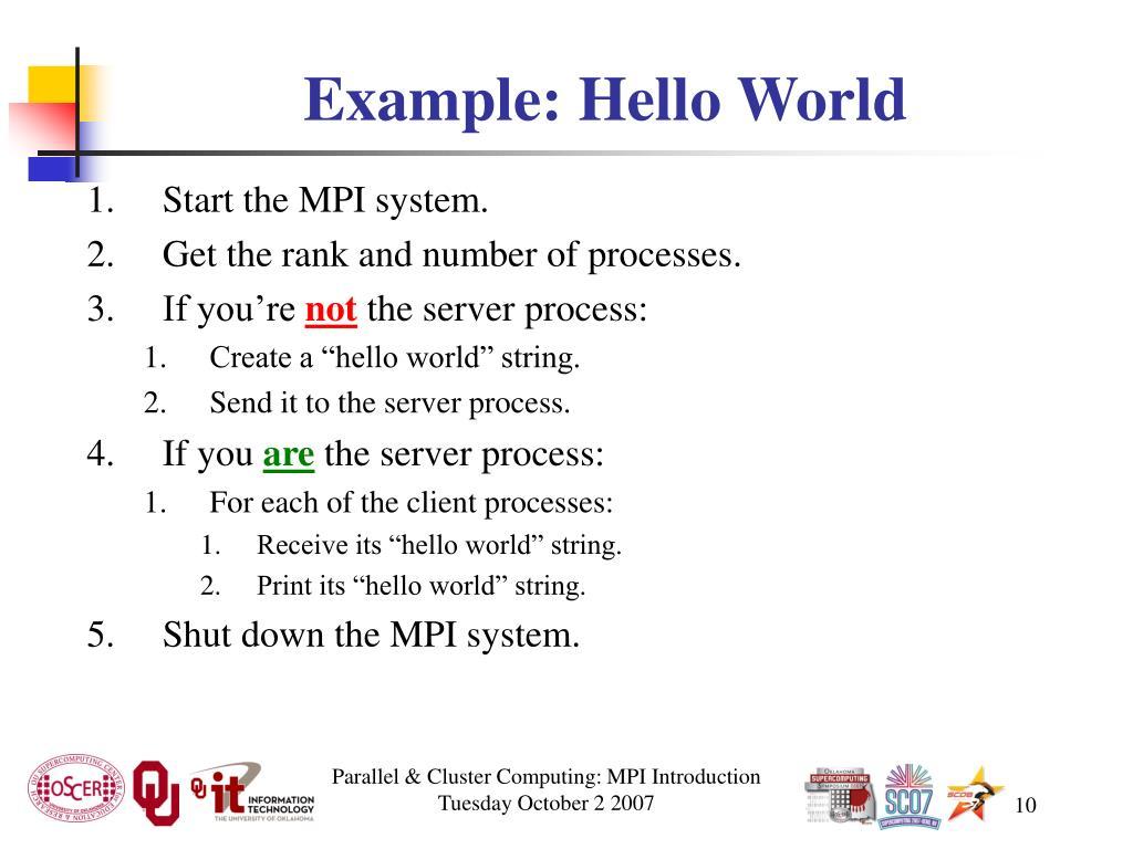 Example: Hello World