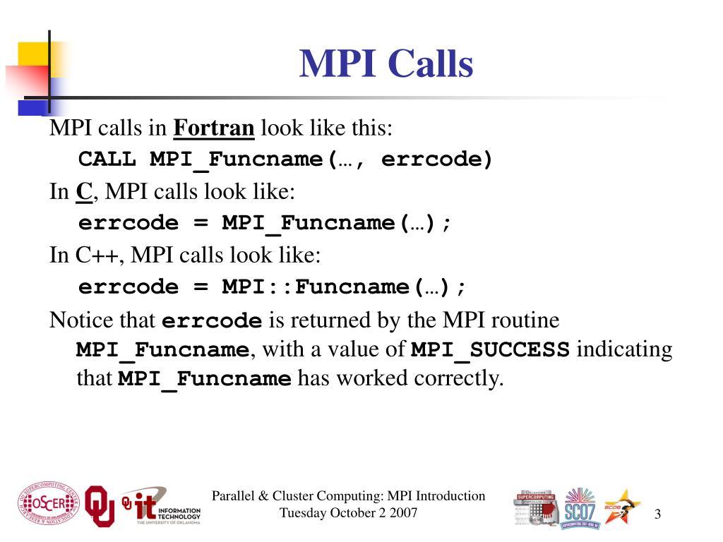 MPI Calls
