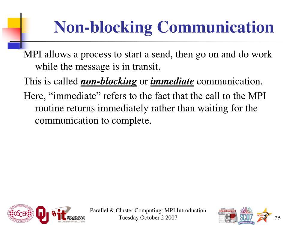 Non-blocking Communication