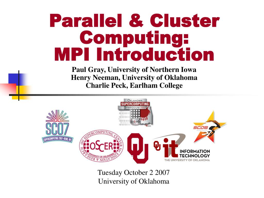 Parallel & Cluster Computing: