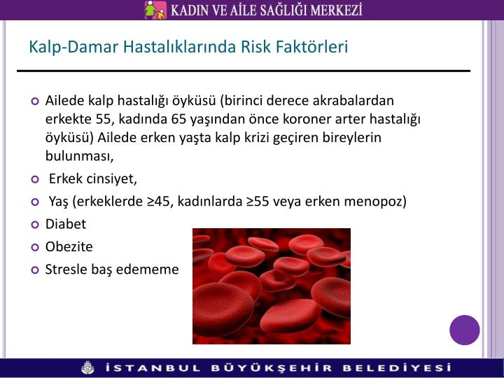 Kalp-Damar Hastalıklarında Risk Faktörleri
