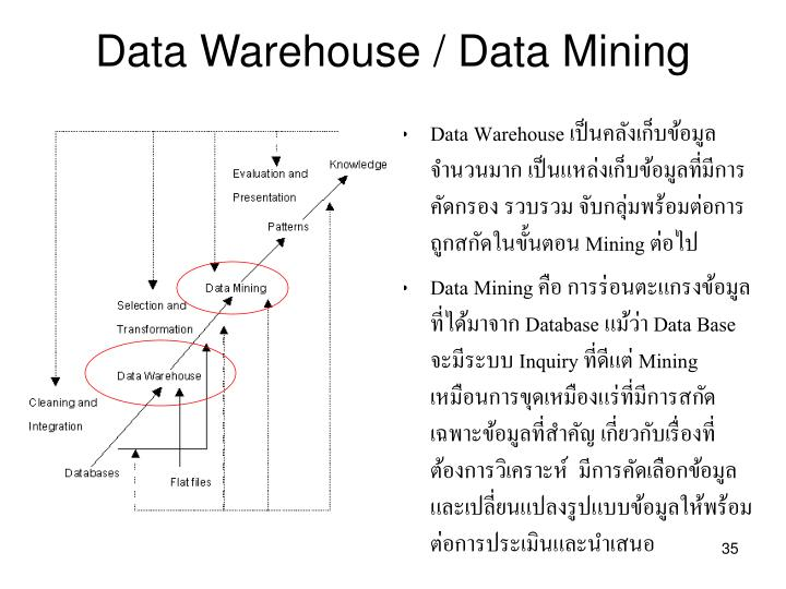 Data Warehouse / Data Mining