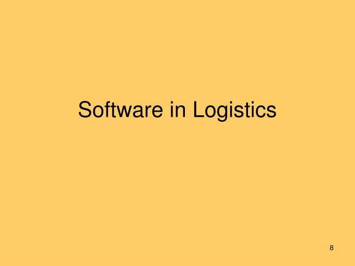 Software in Logistics
