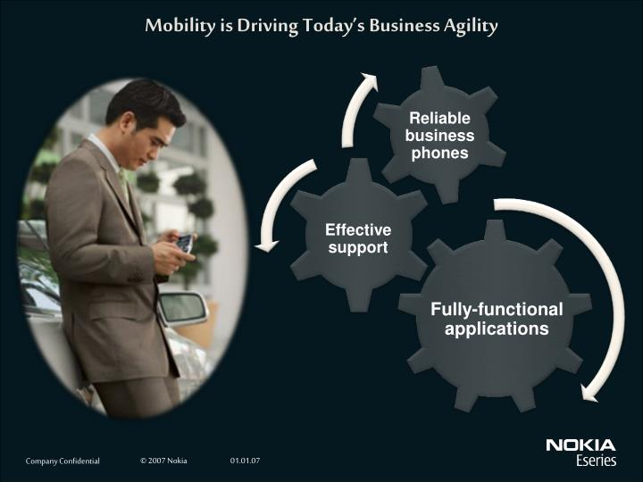 Mobility is driving today s business agility