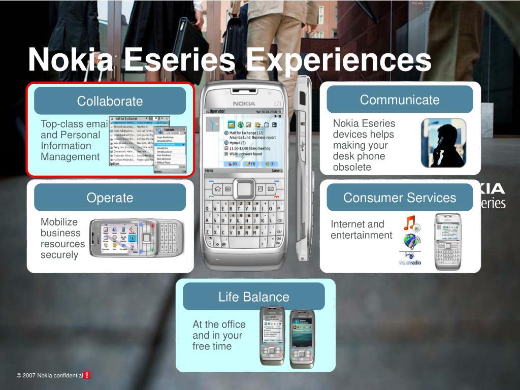 Nokia Eseries Experiences