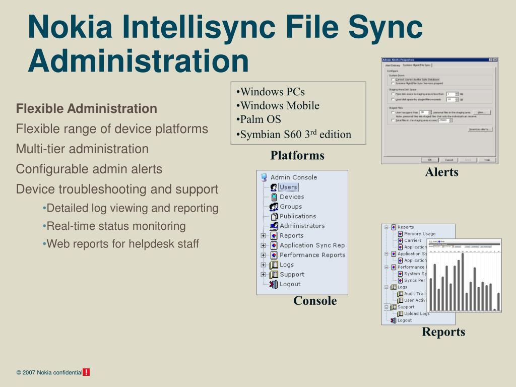 Nokia Intellisync File Sync Administration