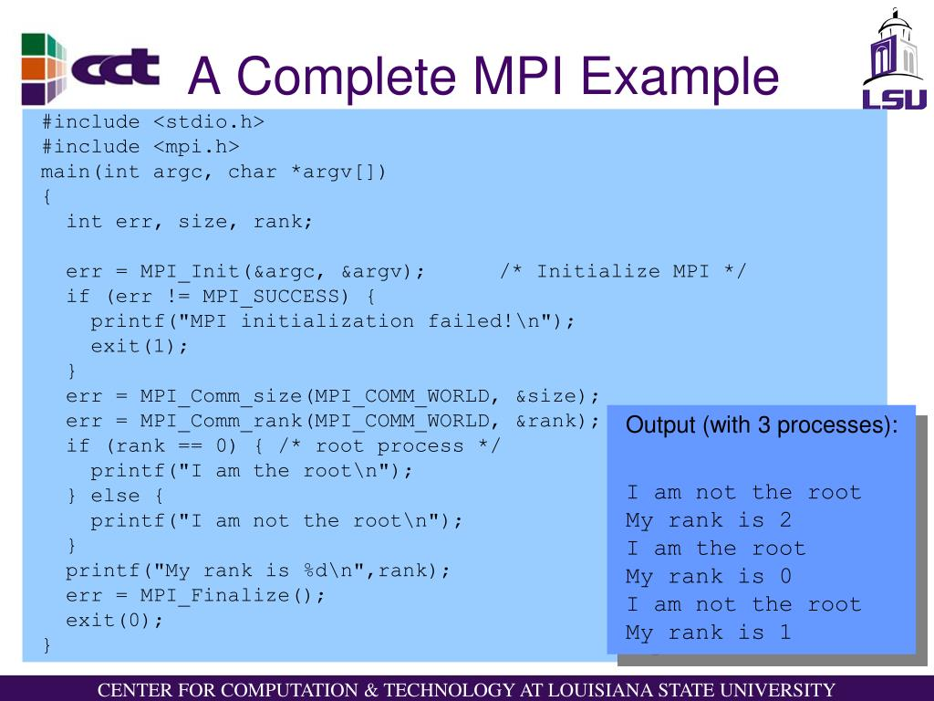 A Complete MPI Example