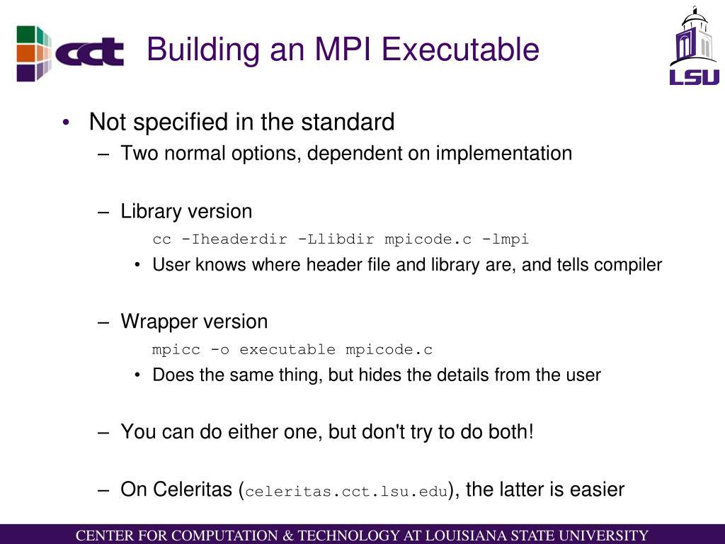 Building an MPI Executable