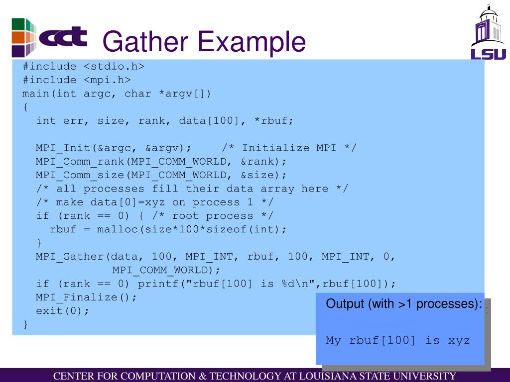 Gather Example