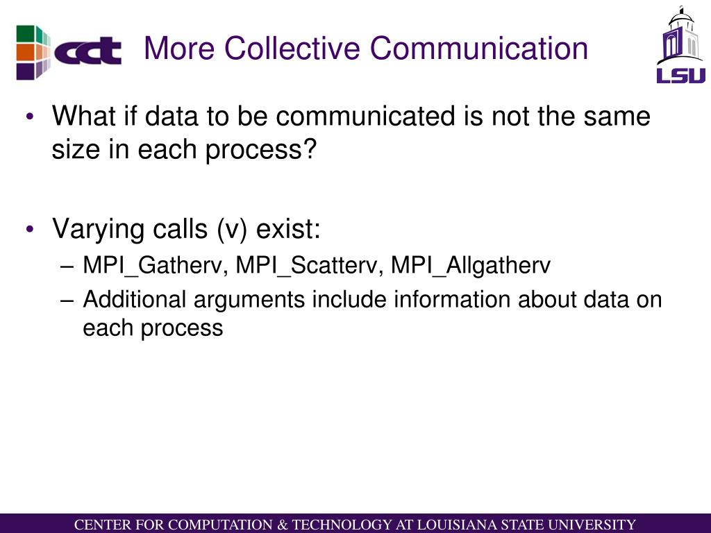 More Collective Communication