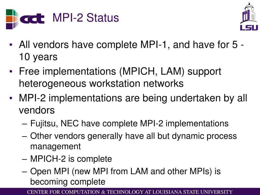 MPI-2 Status