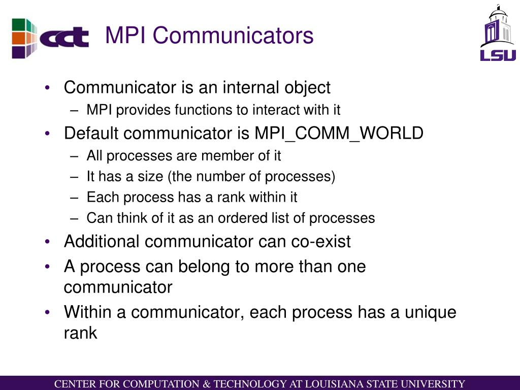 MPI Communicators