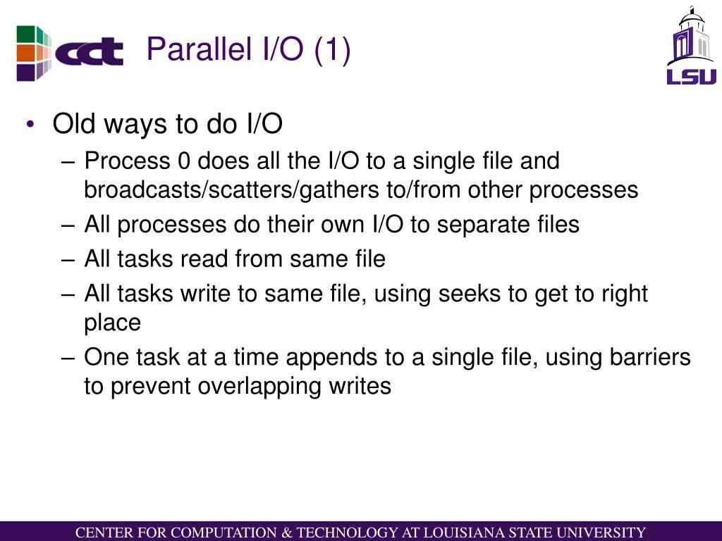 Parallel I/O (1)