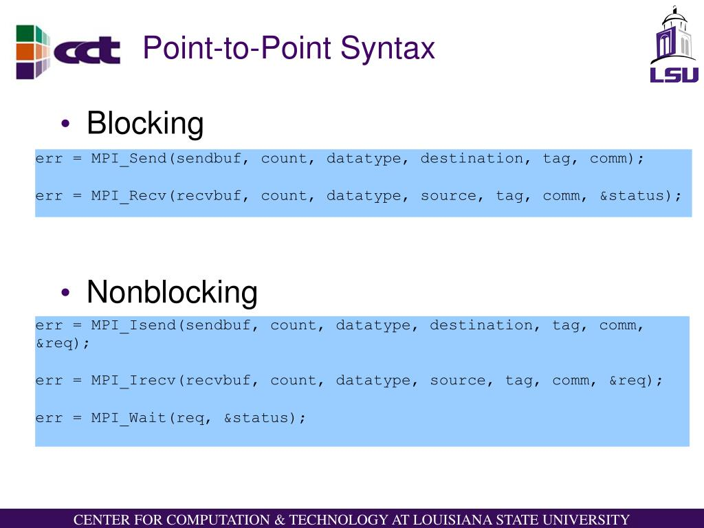 Point-to-Point Syntax