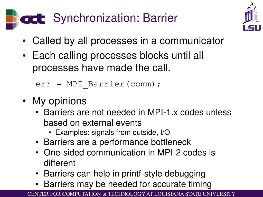 Synchronization: Barrier